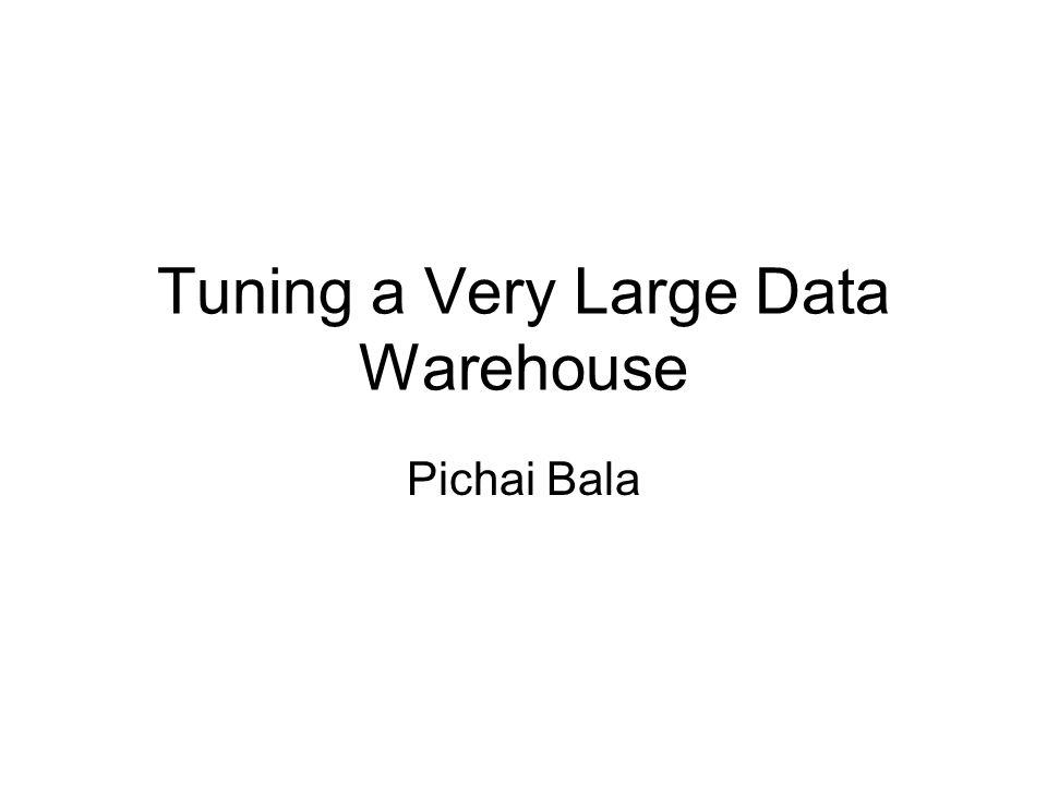 Tuning a Very Large Data Warehouse Pichai Bala
