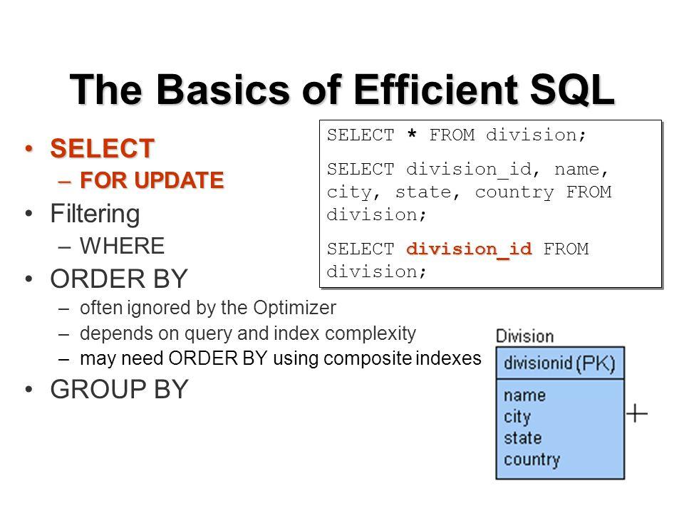 Finding Problem Queries EXPLAIN PLANEXPLAIN PLAN –SET AUTOTRACE ON EXPLAIN –$ORACLE_HOME/rdbms/admin/utlxplan.sql SQL Trace and TKPROF