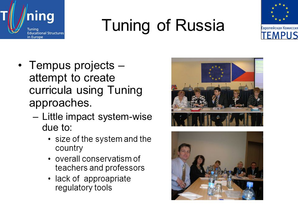 Tuning of Russia Tempus projects – attempt to create curricula using Tuning approaches.