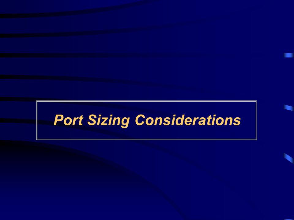 Port Sizing Considerations