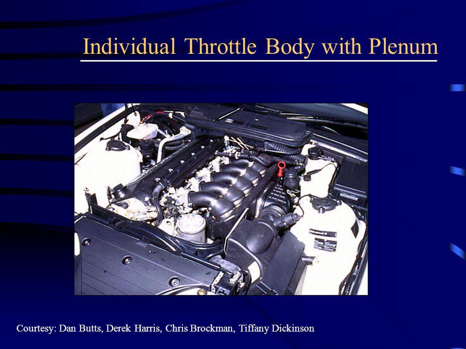 Individual Throttle Body with Plenum Courtesy: Dan Butts, Derek Harris, Chris Brockman, Tiffany Dickinson