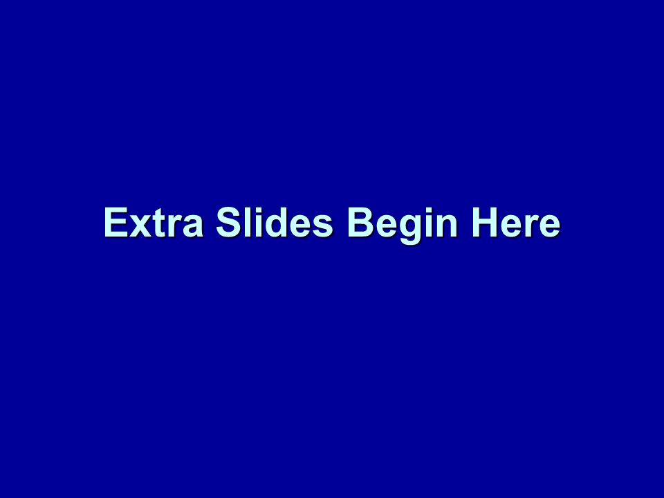 Extra Slides Begin Here