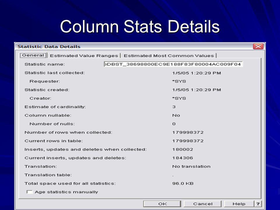 Column Stats Details