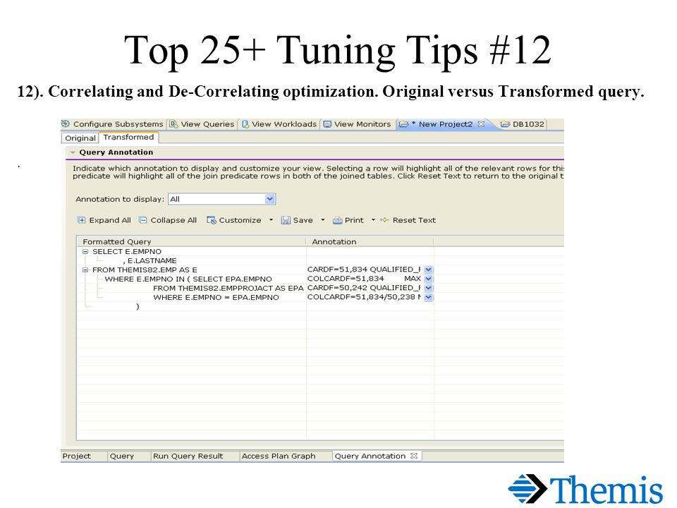Top 25+ Tuning Tips #12 12). Correlating and De-Correlating optimization.