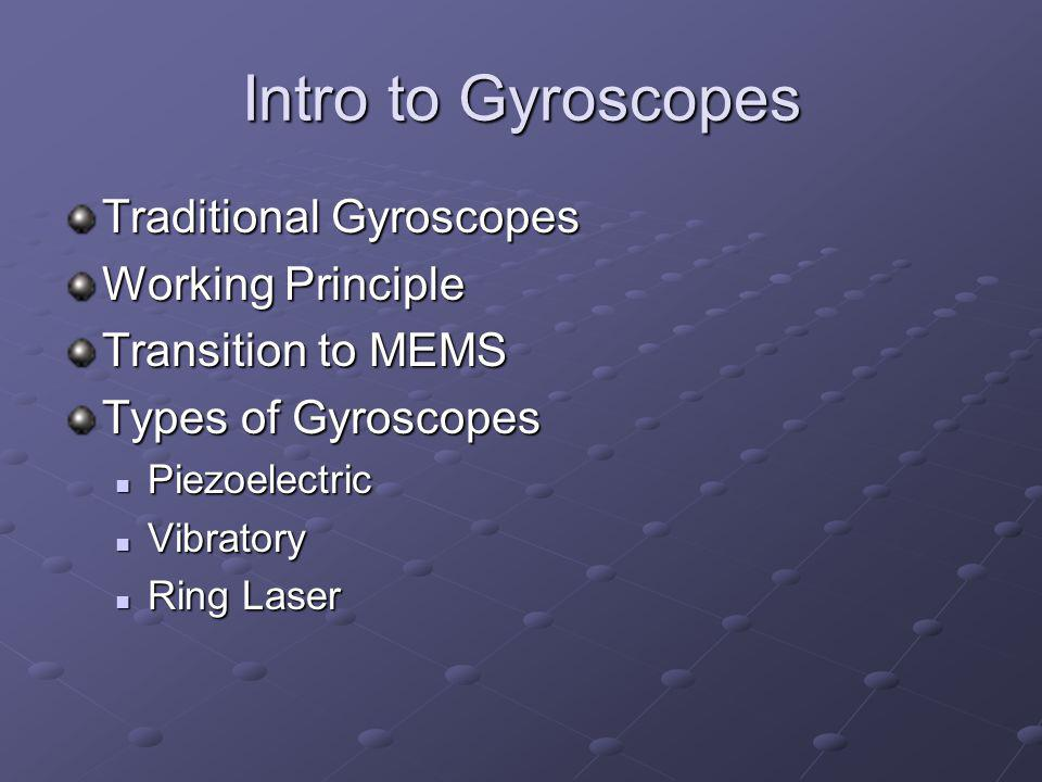 Laser Ring Gyroscopes Two signals sent around ring Different path lengths create a beat frequency.