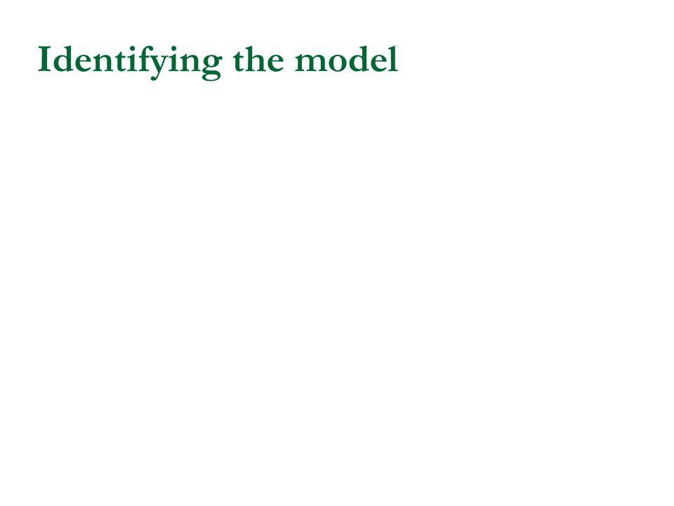 Identifying the model