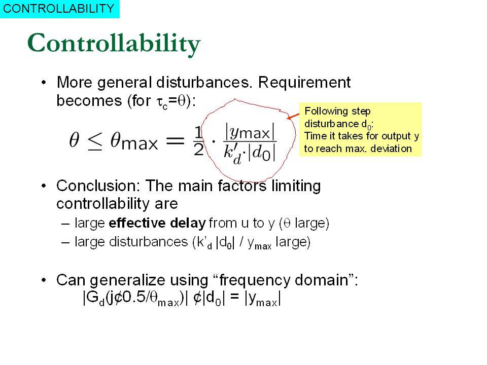 Controllability CONTROLLABILITY