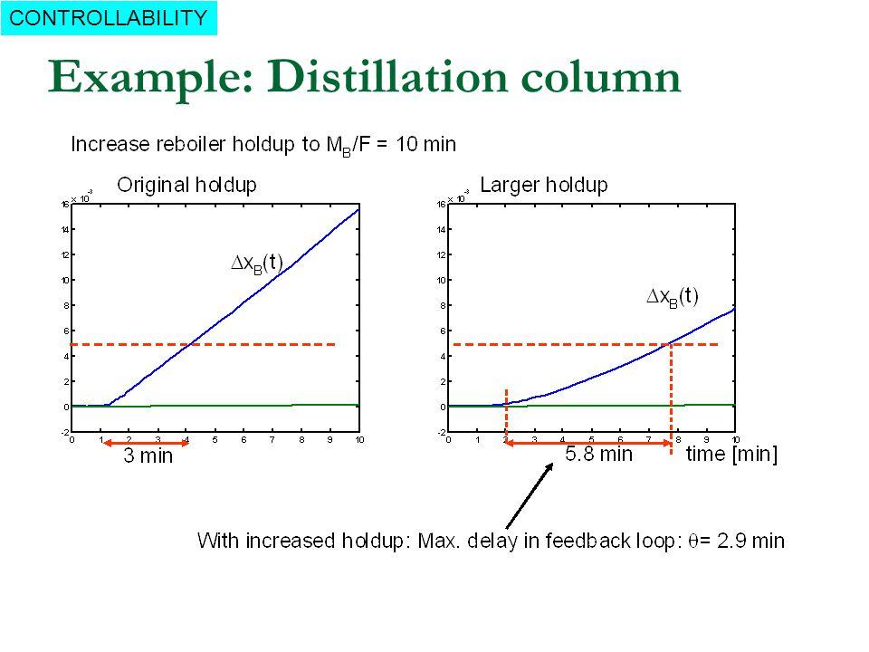Example: Distillation column CONTROLLABILITY