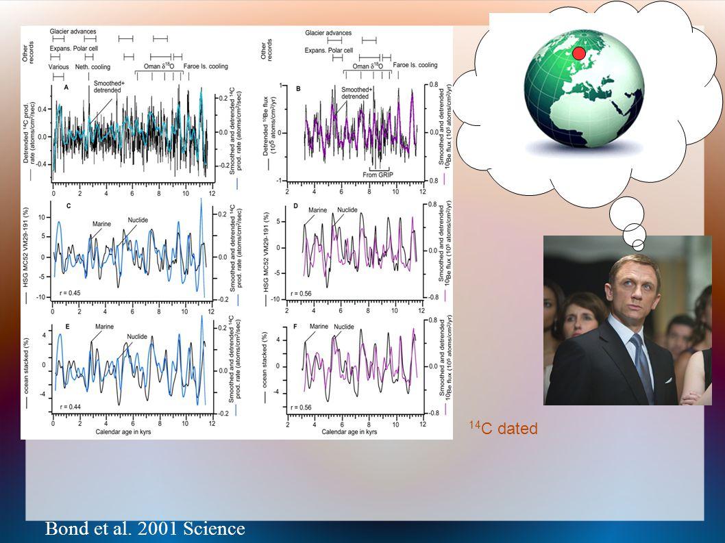 Bond et al. 2001 Science 14 C dated