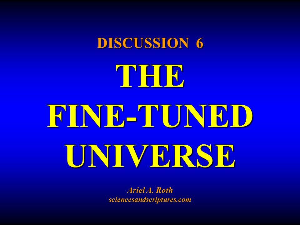 6.RESPONSES TO THE FINE-TUNED UNIVERSE DATA c.