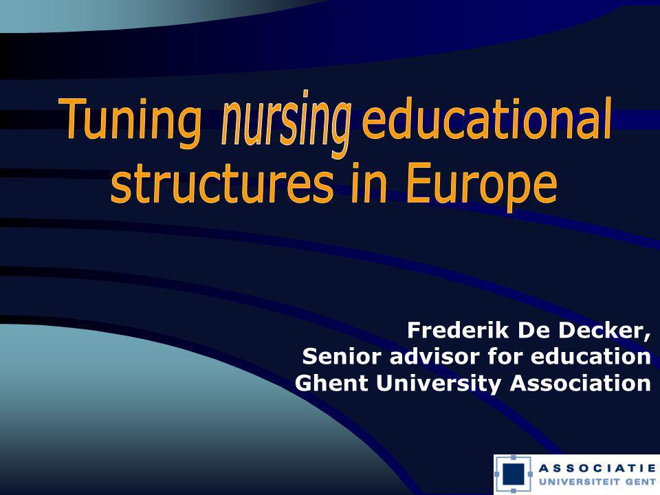 1 Frederik De Decker, Senior advisor for education Ghent University Association
