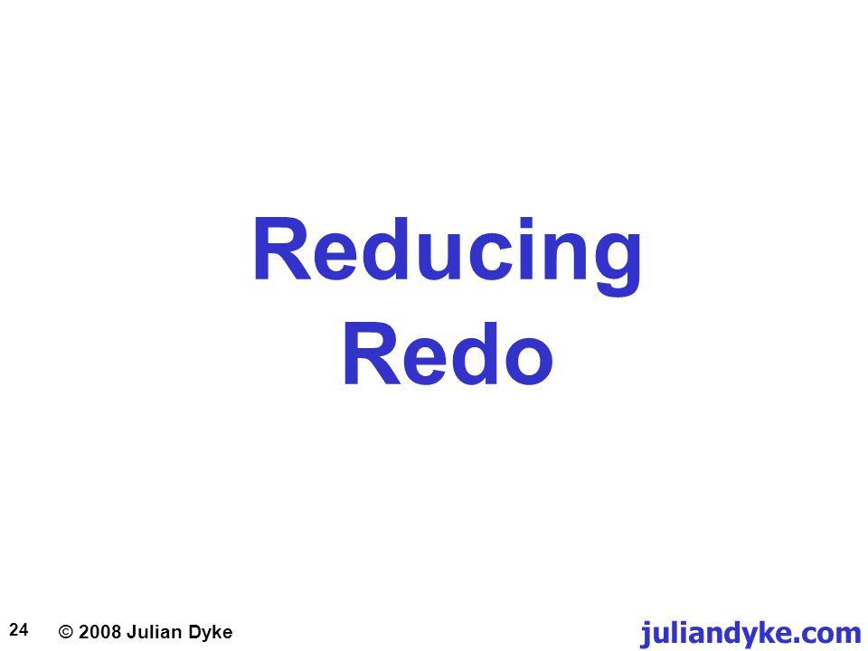 © 2008 Julian Dyke juliandyke.com 24 Reducing Redo