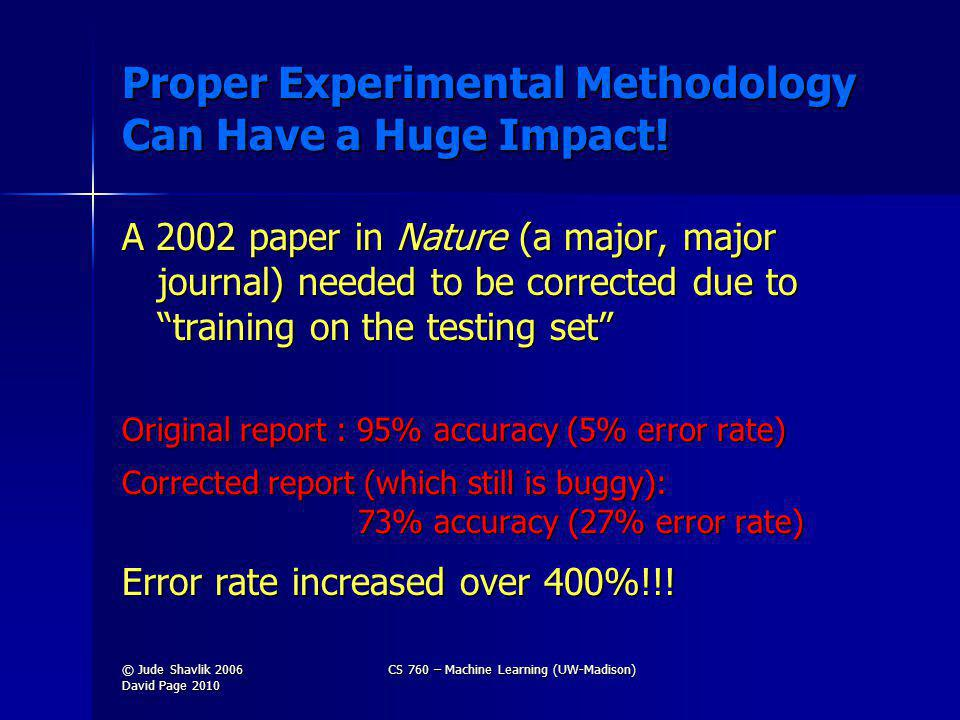Proper Experimental Methodology Can Have a Huge Impact.