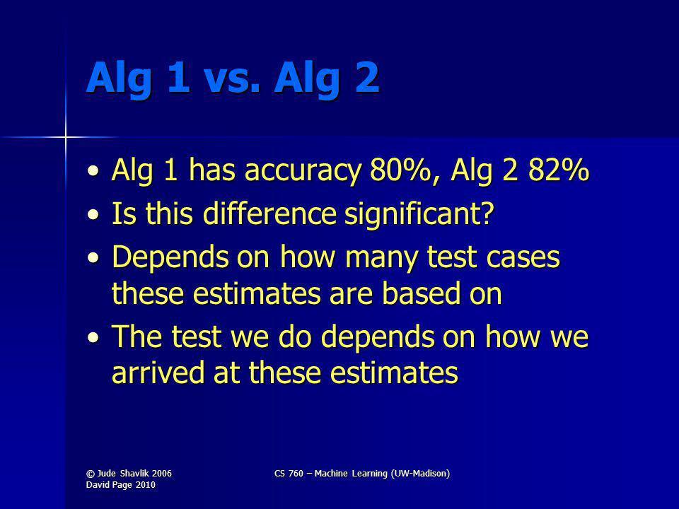Alg 1 vs.