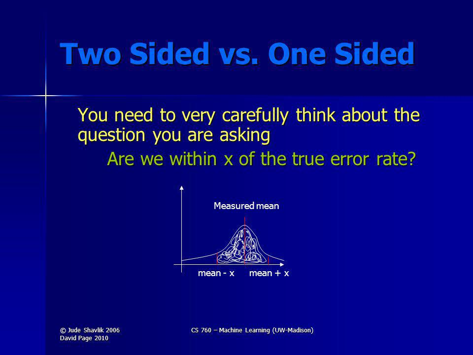 Two Sided vs.