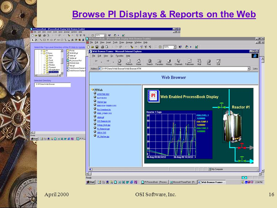 April 2000OSI Software, Inc.16 Browse PI Displays & Reports on the Web