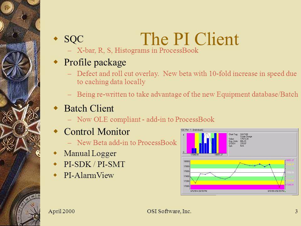 April 2000OSI Software, Inc.24
