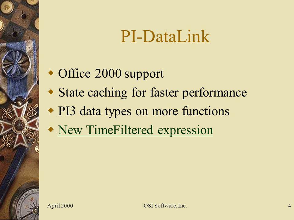 April 2000OSI Software, Inc.15