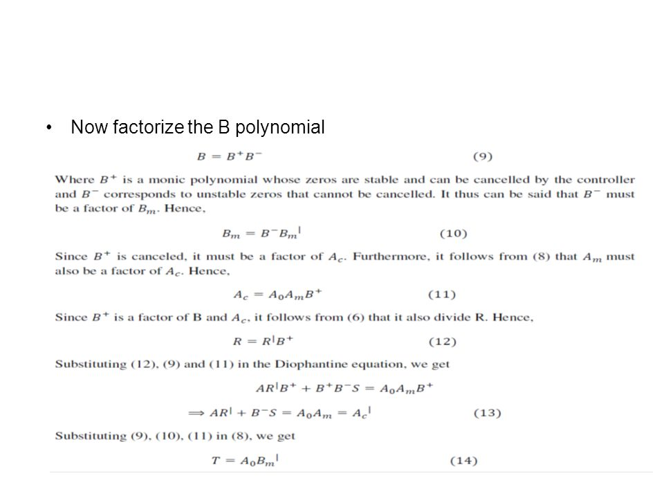 Now factorize the B polynomial