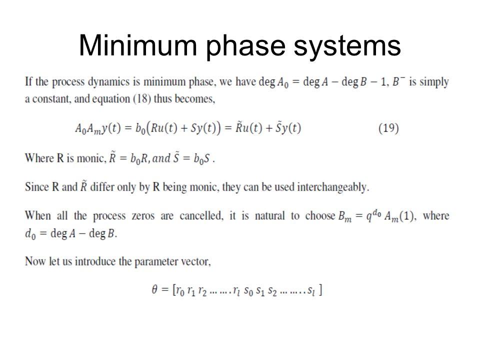 Minimum phase systems