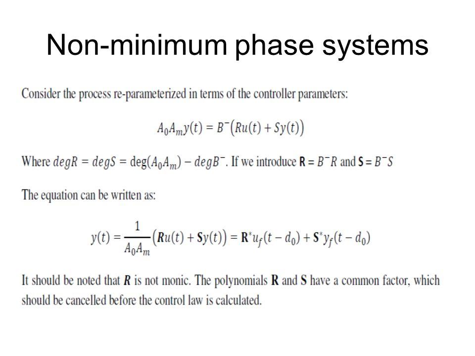 Non-minimum phase systems