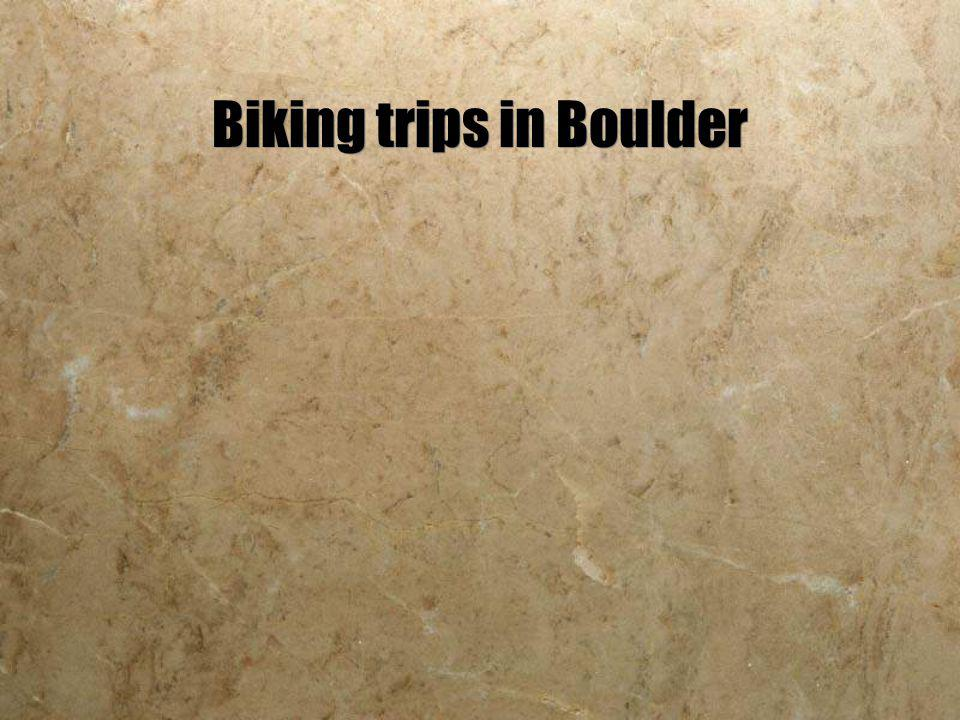 Biking trips in Boulder