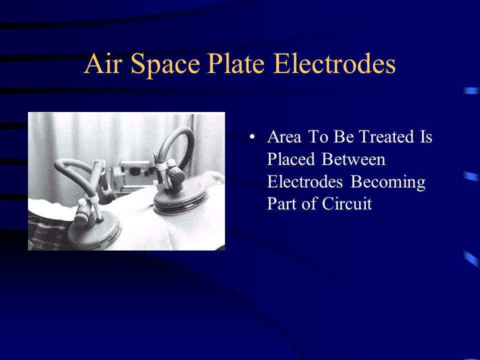 Air Space Plate Electrodes Area To Be Treated Is Placed Between Electrodes Becoming Part of Circuit