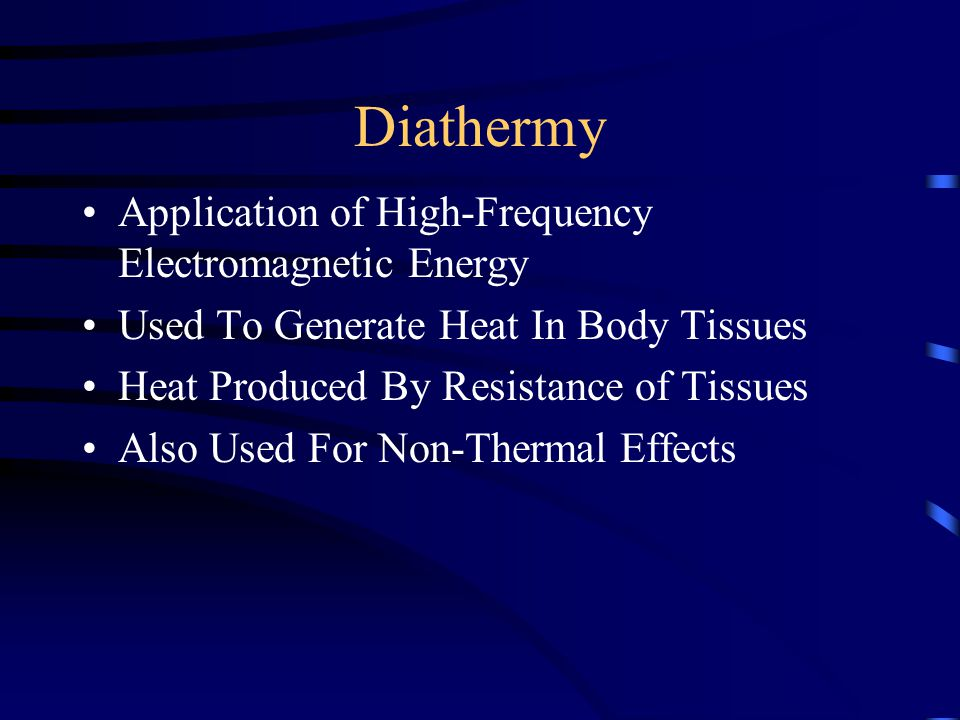 Treatment Time Most Typically SWD Treatments Last For 20-30 Minutes Remember As Skin Temperature Rises Resistance Falls