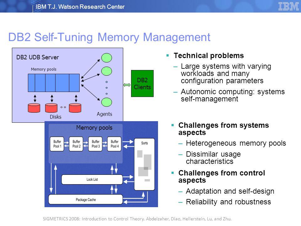 IBM T.J. Watson Research Center © 2008 IBM Corporation 2 SIGMETRICS 2008: Introduction to Control Theory. Abdelzaher, Diao, Hellerstein, Lu, and Zhu.