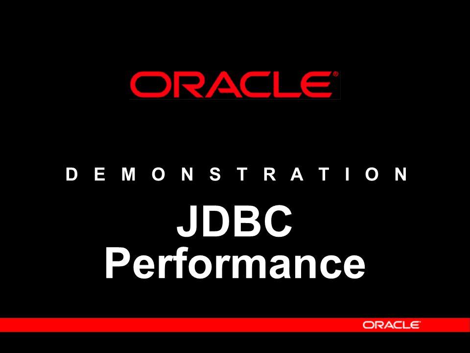 D E M O N S T R A T I O N JDBC Performance