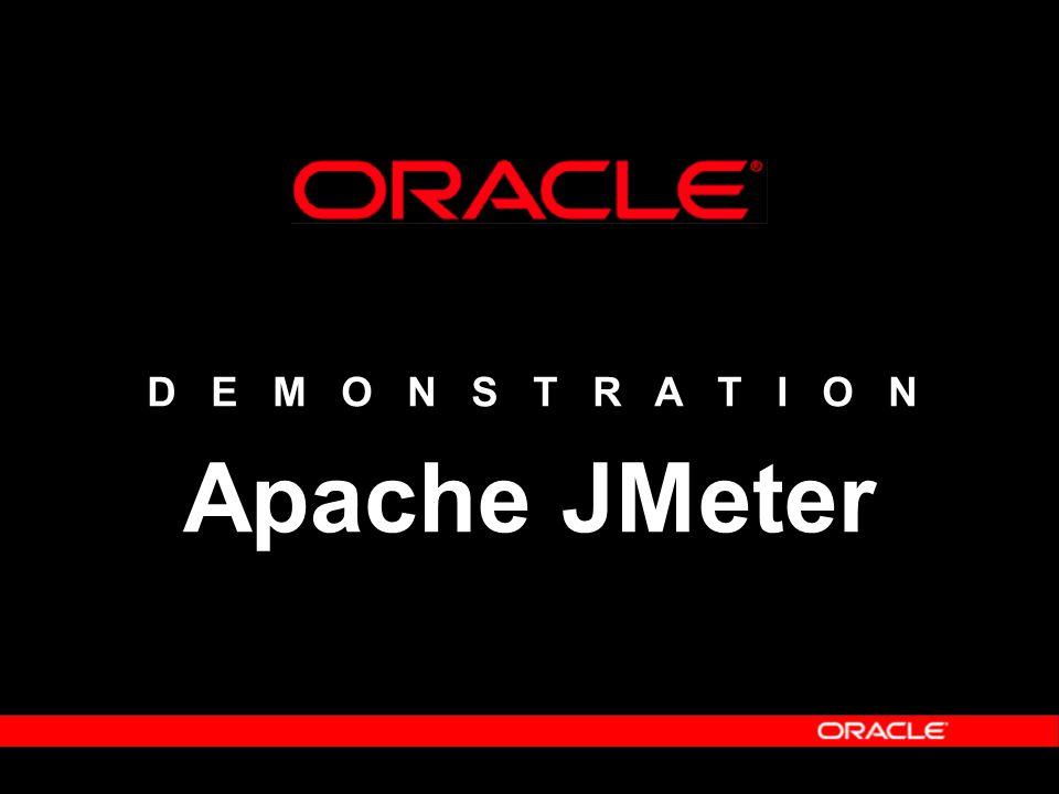 D E M O N S T R A T I O N Apache JMeter