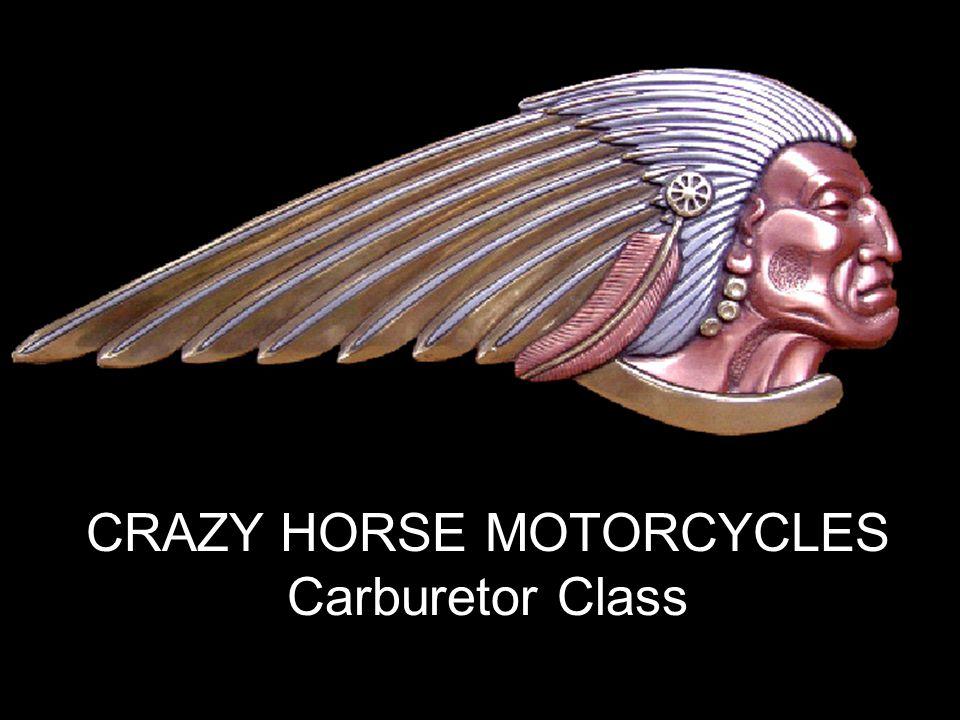 www.crazyhorsemotorcycles.com CRAZY HORSE MOTORCYCLES Carburetor Class