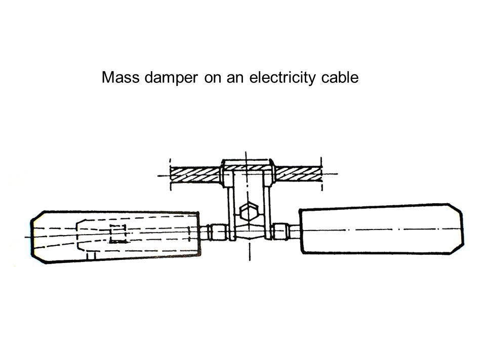 Mass damper on an electricity cable