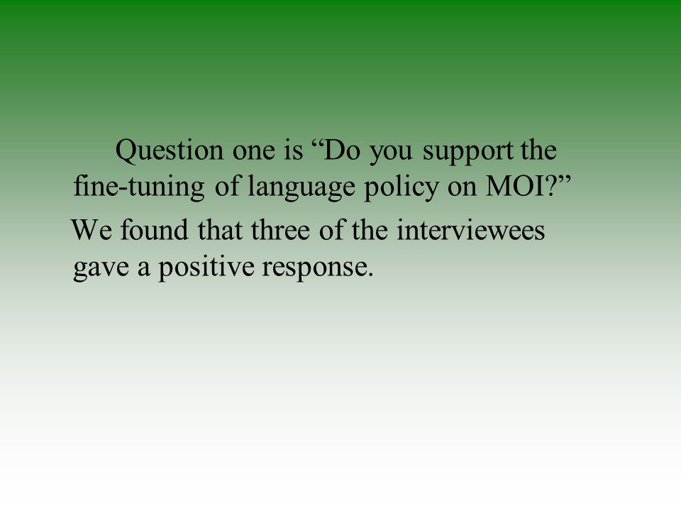 Q7.Do you think CMI schools will be marginalised in future?Why?
