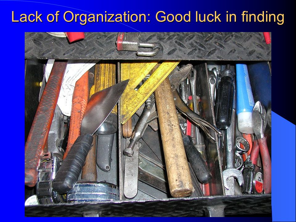 Lack of Organization: Good luck in finding