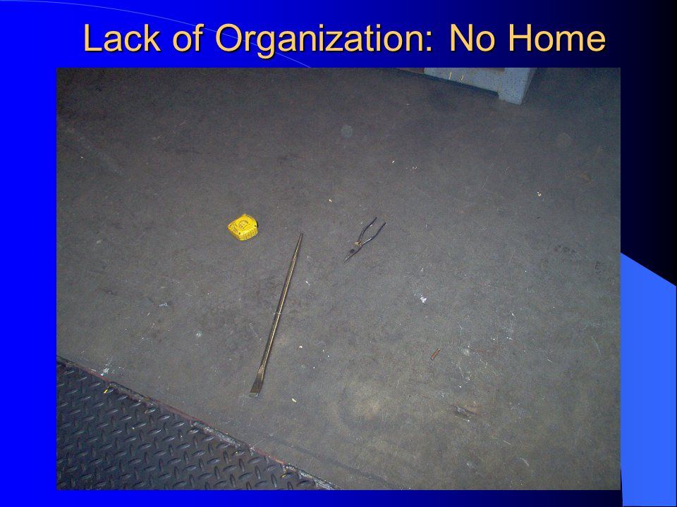 Lack of Organization: No Home