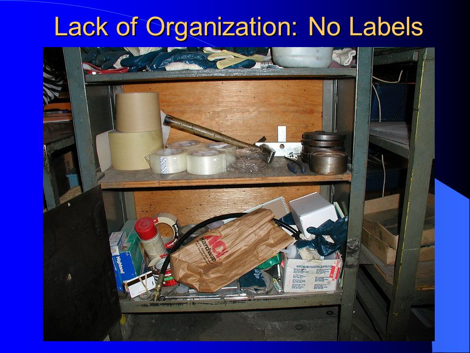 Lack of Organization: No Labels