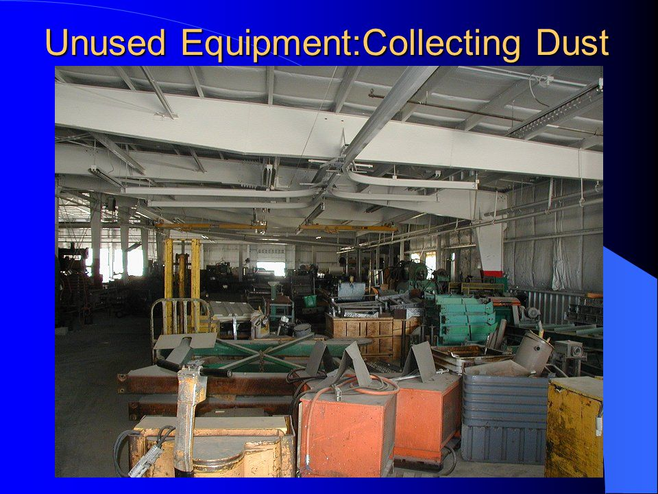 Unused Equipment:Collecting Dust