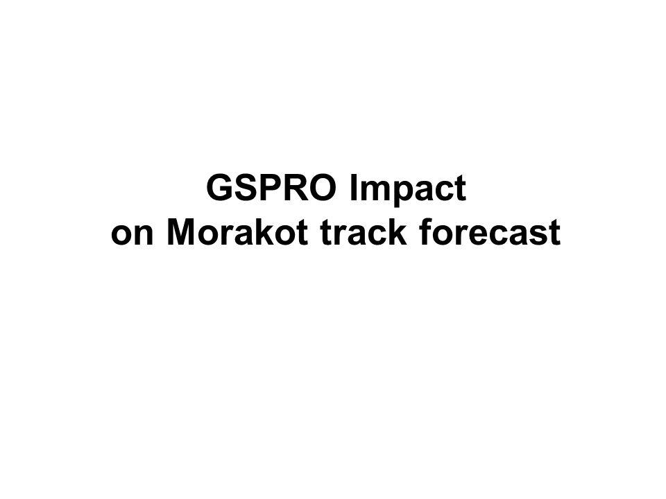 GSPRO Impact on Morakot track forecast