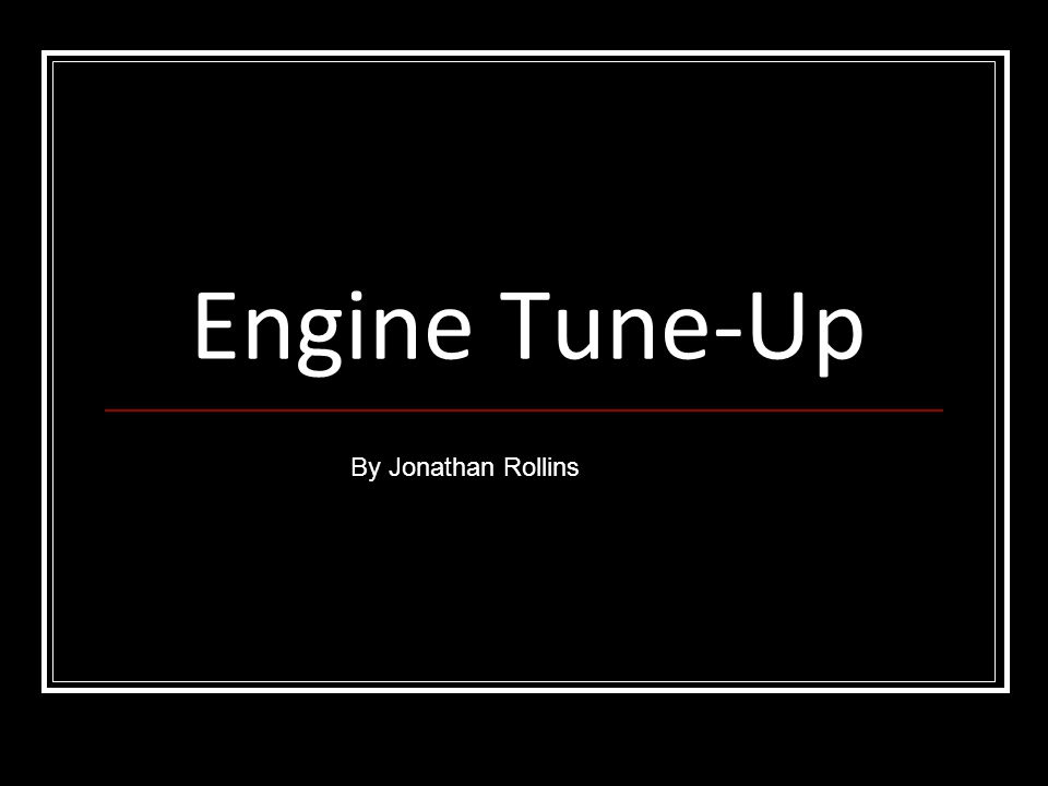 Tune-up safety rules It is important for the battery to be disconnected before maintenance so it does not accidentally crank the engine or electrical fire.