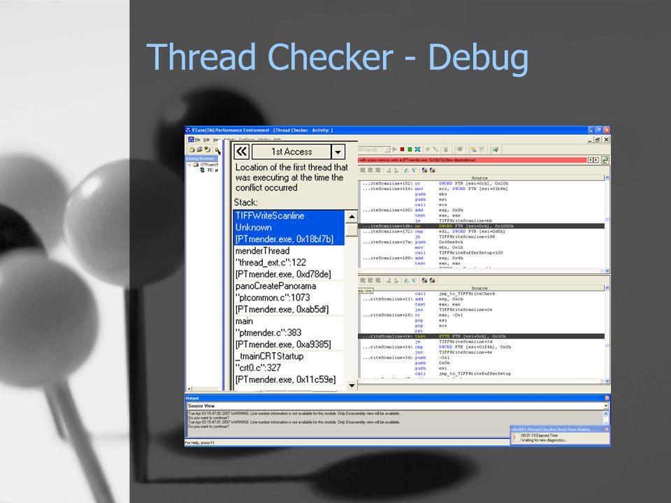Thread Checker - Debug