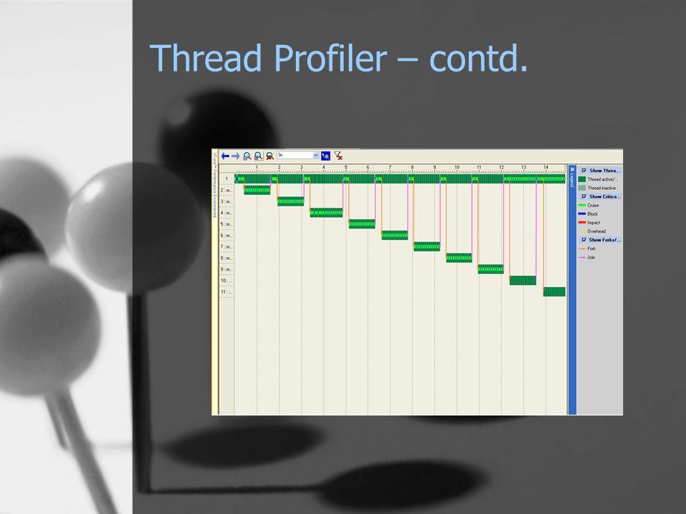 Thread Profiler – contd.