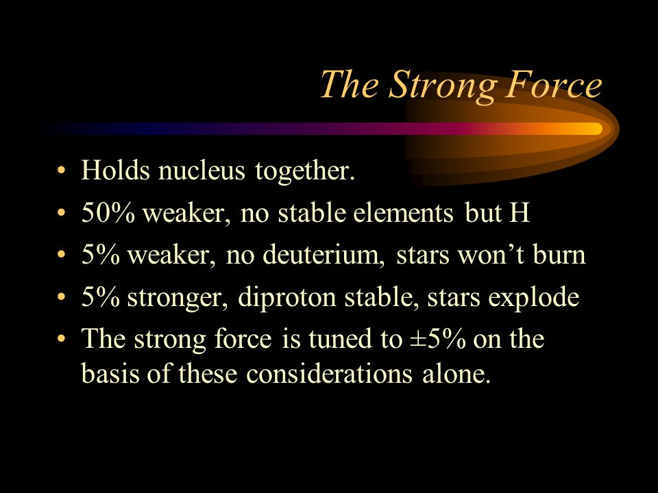 The Strong Force Holds nucleus together.