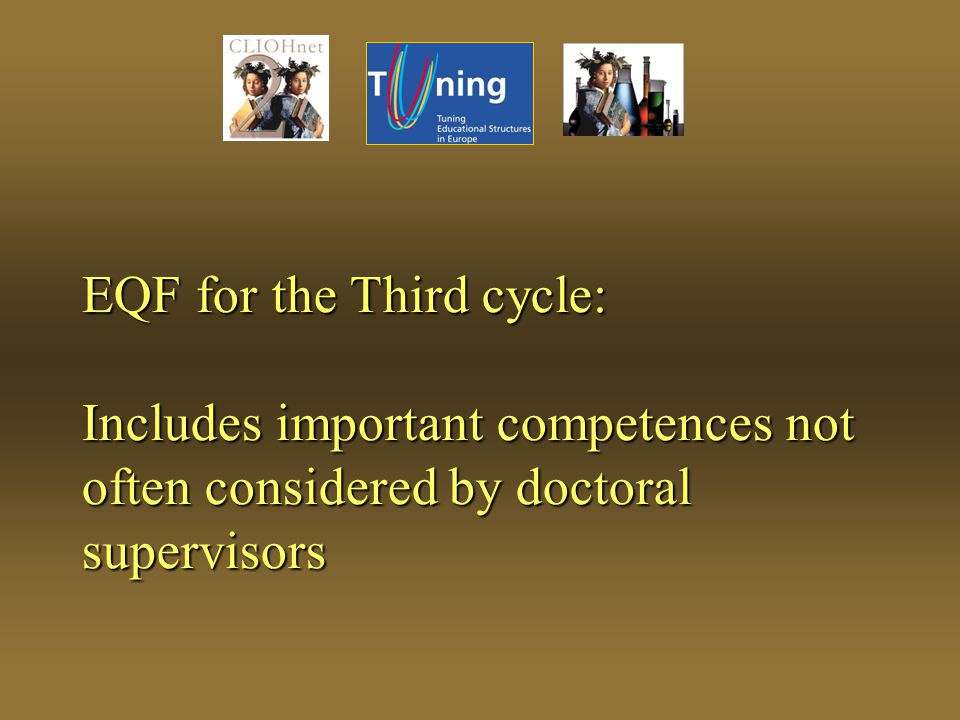 EQF for the Third cycle: Includes important competences not often considered by doctoral supervisors