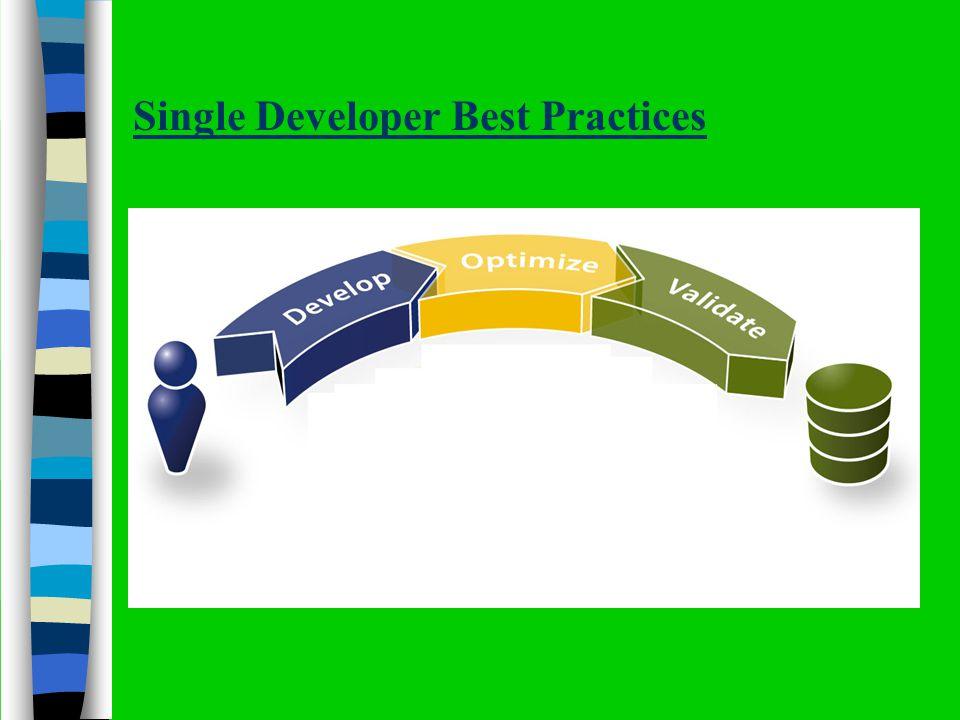 Single Developer Best Practices
