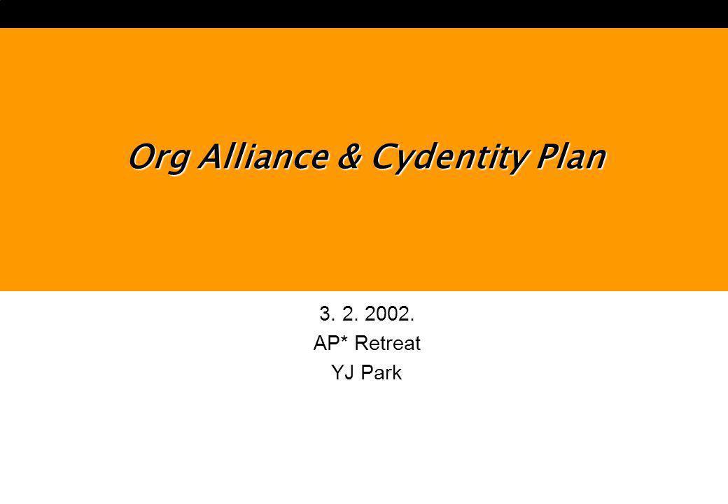 3. 2. 2002. AP* Retreat YJ Park Org Alliance & Cydentity Plan