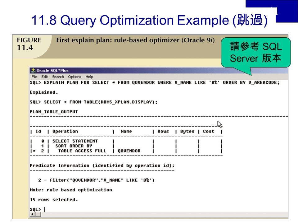 11 38 Query Optimization Example SQL Server