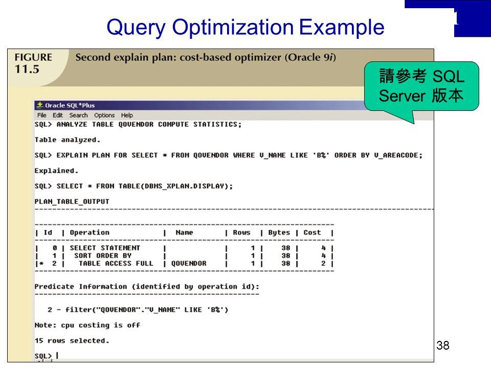 11 39 Query Optimization Example SQL Server