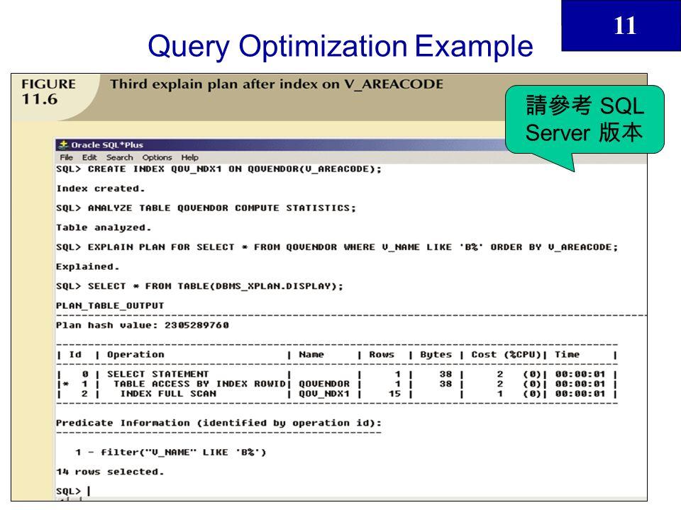 11 40 Query Optimization Example SQL Server