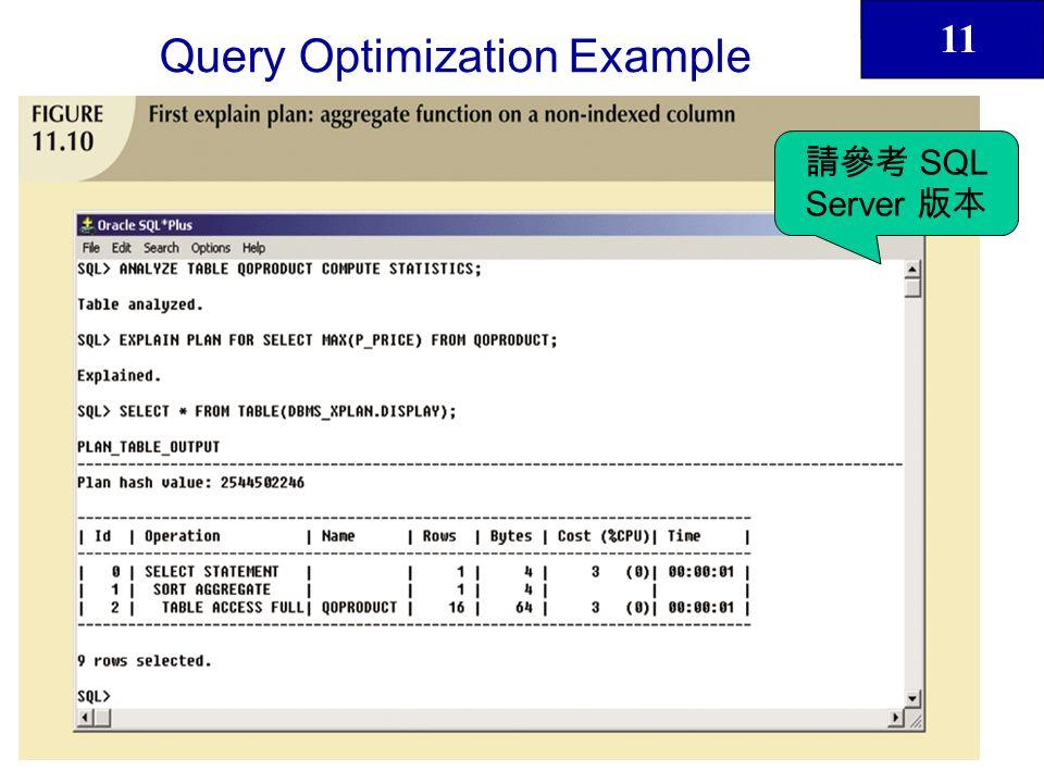 11 44 Query Optimization Example SQL Server